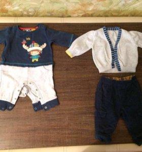 Детская одежда на мальчика от 0 до 7 месяцев