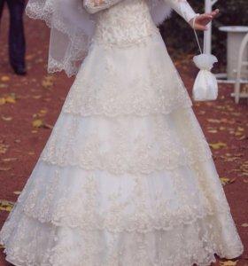 Свадебное платье от Rene Rofe , размер 40-42 (XS)