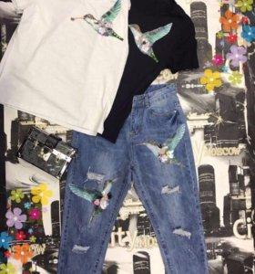Костюм джинсы+футболка