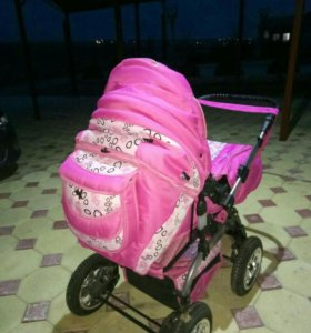 Розовая коляска