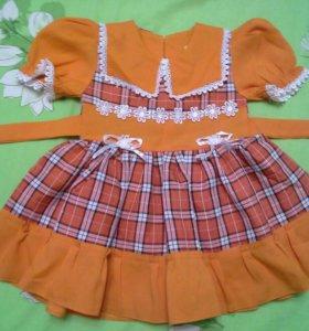 Платье нарядное новое 1-4года