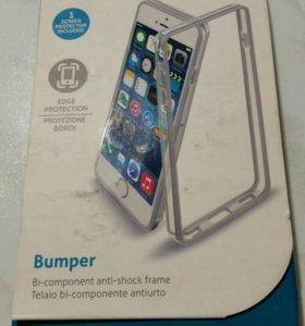 Бампер + защитная плёнка на iPhone 6