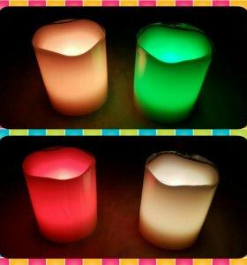 Светодиодная свеча (12 цветов)