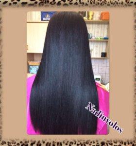 Ботокс , кератиновое выпрямление, полировка волос.
