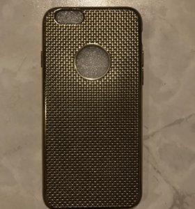 Чехол силиконовый золотого цвета iPhone 6-6s