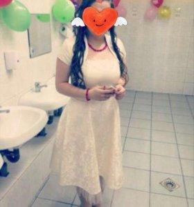 Вечернее корсетное платье