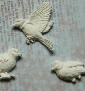Декоративные украшения- птички