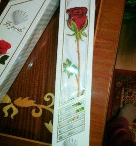 Полотенец махровый с розой 50x90 Турция
