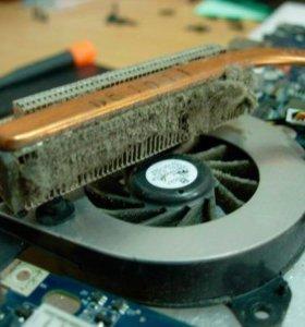 Чистка ноутбука компьютера переуствновка виндовс
