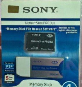 Карта памяти Sony Memory Stick PRO Duo MSX-M1GST/X