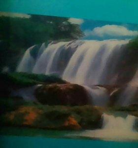 """Светящаяся,музыкальная картина""""водопад"""""""