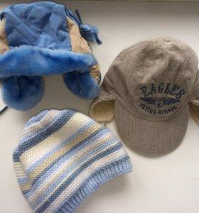 Три шапочки на возраст 1-3 годика