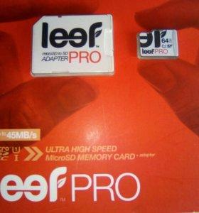 Карта памяти Leef microSD PRO 64 GB