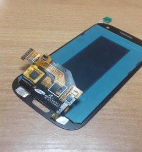 Экран (модуль) дисплей+тач Samsung S3 I9300 синий