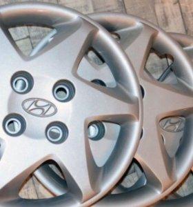 Колпаки оригинал от Hyundai Sonata R15 под 4 гайки