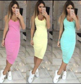 Новое Платье -майка,цвет мятный