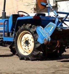 Вспашка,фрезой мини трактор.