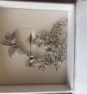 Цепочка с подвеской (стрекоза)