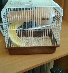 Клетка для маленького хомячка