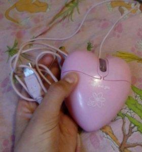 Мышка для компьютера в виде сердца