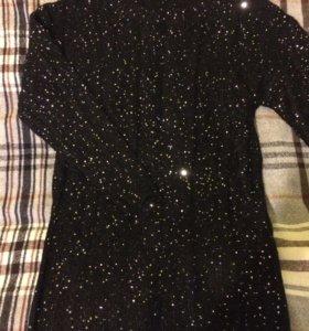 Вязаное платье с люриксом