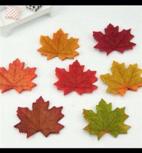 Кленовые листья для скрапбукинга и поделок