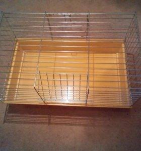 Клетка для грызунов с поилкой, кормушкой и домиком