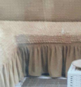 Покрывало на угловой диван цвет меда. Не подошло