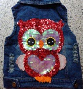 Безрукавка жилетка джинсовая детская