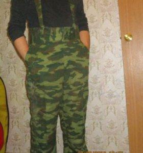 Утепленные брюки милитари (камуфляж)