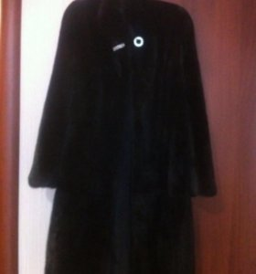 Шуба норковая чёрная 40-44р.