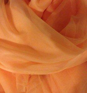 Вуаль персиковая 3 м ширина