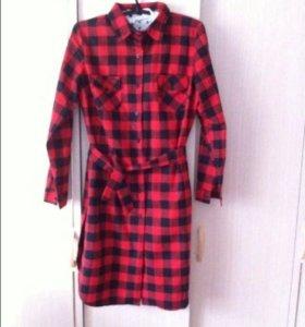 Новая платье-рубашка