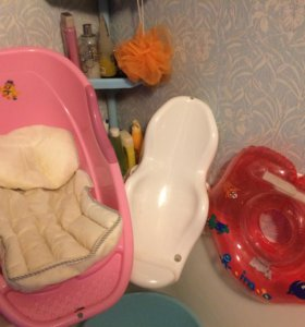 Ванночка , горка, круг, матрасик для купания