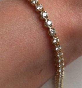 Золотой браслет с бриллиантами 2,53 карат