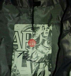 Новая серая куртка с капюшоном 6 ХL