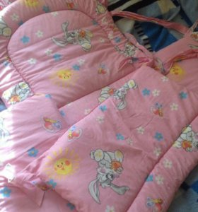 Балдахин и бортики в детскую кроватку