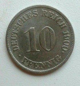 10 пфеннигов 1900 года