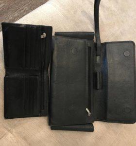 Мужской клатч и бумажник