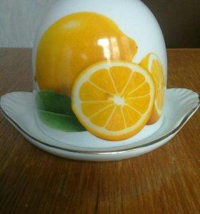 Лимоница, блюдце для лимона с крышкой