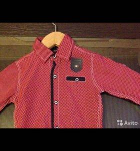 Новая рубашка на мальчика 80 р.