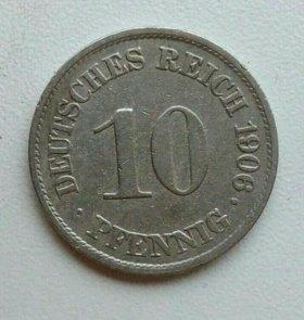 10 пфеннигов 1906 года