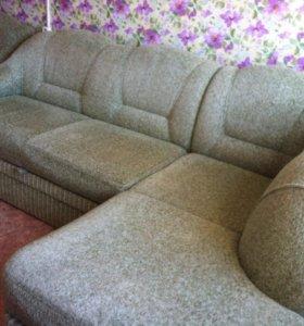 Продам угловой диван и кресло кровать