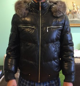 Куртка зимняя кожаная мужская
