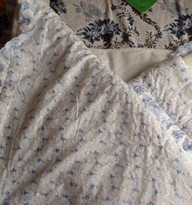 Конверт и одеяло на овчине