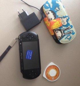 PSP+флешка+чехол+диск