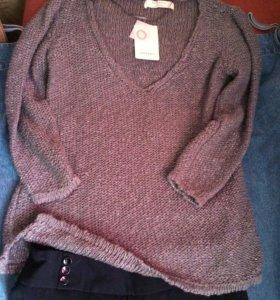 2 шт вместе.новые Zara брюки+джемпер размер L