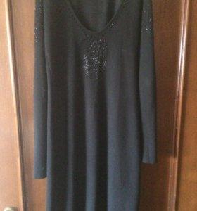 Трикотажное платье с открытой спиной