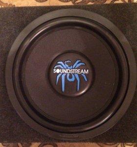 Усилитель Kicx и сабвуфер SoundStream