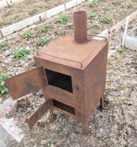 Печь стальная( буржуйка)